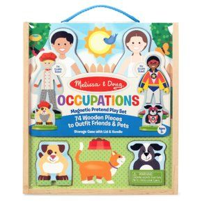 Melissa & Doug Occupations Magnetic Pretend Play